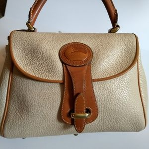 VINTAGE DOONEY & BOURKE IVORY ALL WEATHER LEATHER